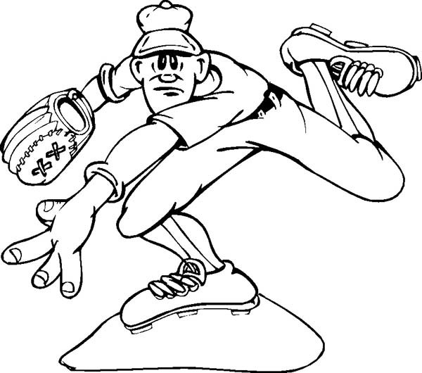 professional baseball coloring pages - photo#26