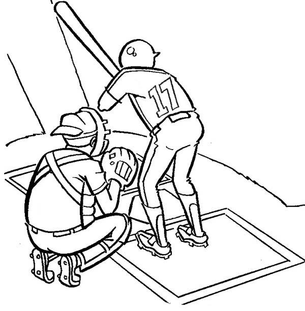 Two baseball player on mount coloring page download for Baseball player coloring pages