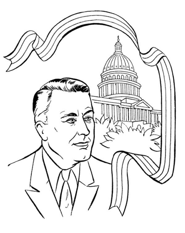 presidents day us president and the capito hill on presidents day coloring page