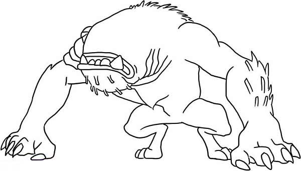 Wildmutt in Defensive Position Coloring Page - Download ...