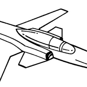 X 29 jet fighter airplane coloring page