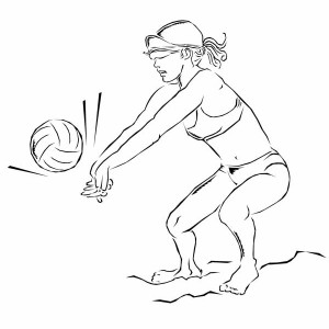 a girl set volleyball coloring page
