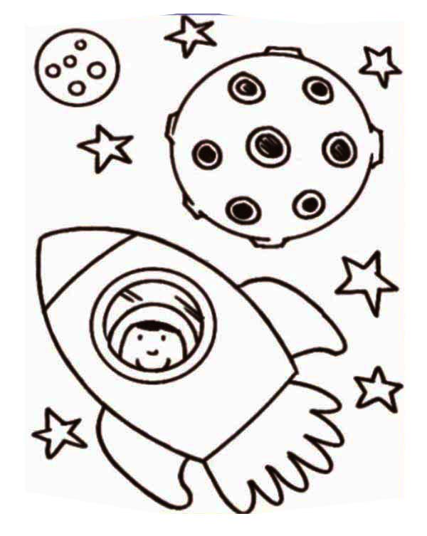Delicate image inside rocket ship printable