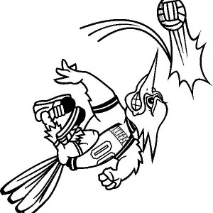 awesome mascot spike the ball coloring page