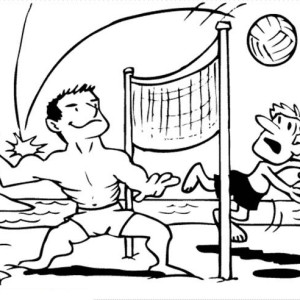 beach volley ball coloring page