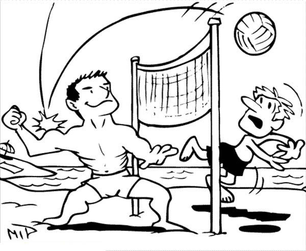 beach volley ball coloring page - Download & Print Online Coloring ...