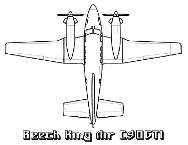 beech king air airplane coloring page Download Print