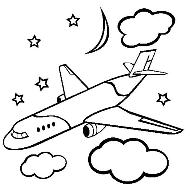 Airplane, : cargo-airline-plane-coloring-page.jpg