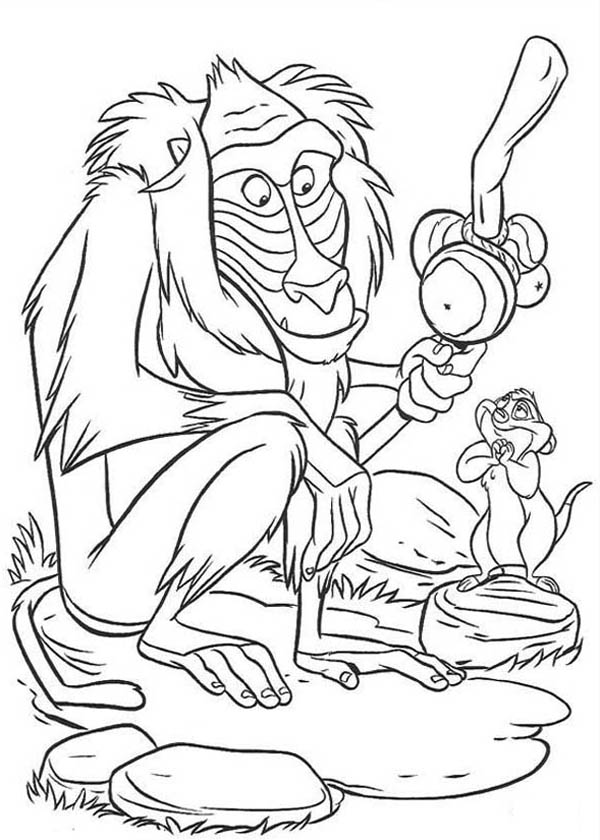 Cartoon Baboon Monkey Coloring Page