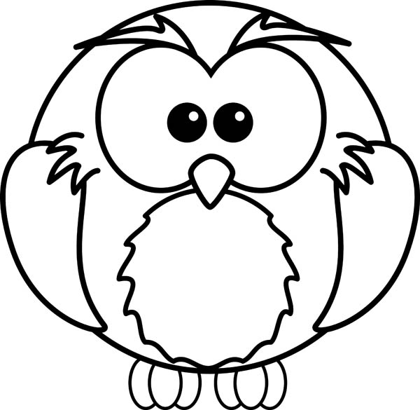 draw an owl and coloring for kids - Download & Print Online ...