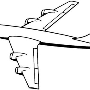 four jet engines jumbo jet plane coloring page - Jumbo Coloring Pages