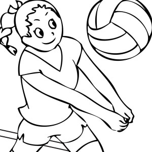 ready to spike volleyball coloring page ready to spike volleyball