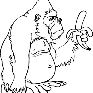 gorilla only has one banana page to coloring