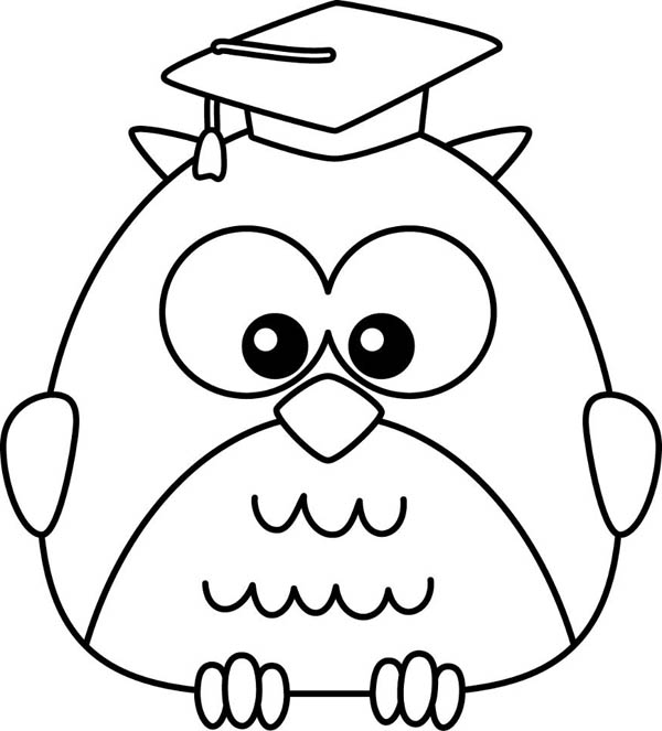 graduate owl coloring page - Download & Print Online Coloring Pages ...
