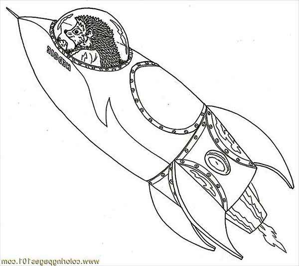 hadgie inside a rocket ship coloring page - Download & Print Online ...