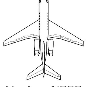 hawker 4000 small jet airplane coloring page