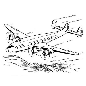 high altitude airline coloring page