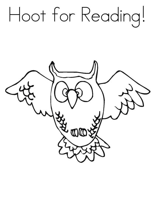 Hoot Owl Coloring Page