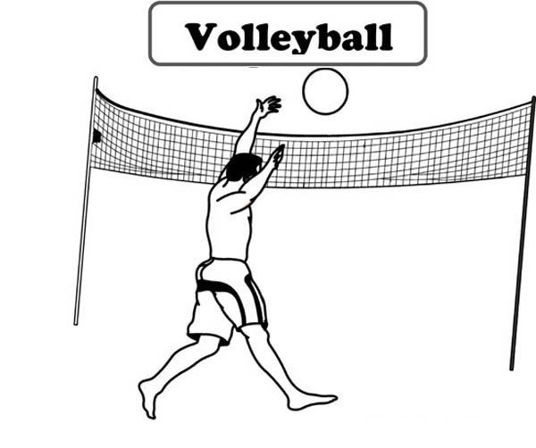 How To Volleyball Service Coloring Page
