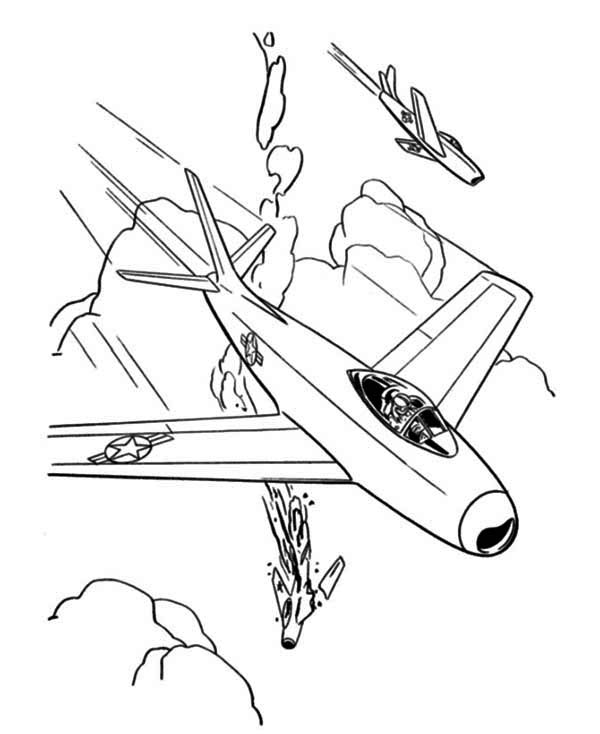 Fighter jet coloring pictures for Fighter plane coloring pages