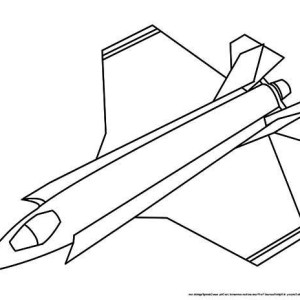 line art airplane jet fighter coloring page
