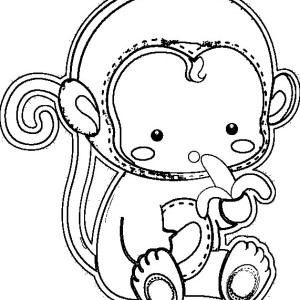 Baby gorilla coloring pages for Coloring pages of baby monkeys