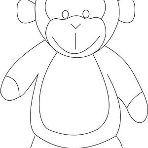 monkey drawing coloring page