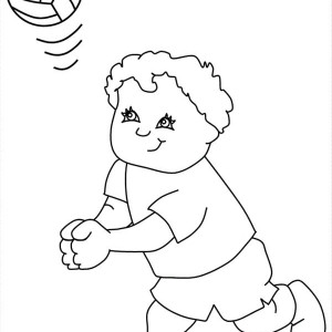 Volleyball My Friend Play Coloring Page