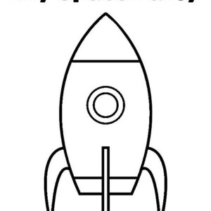 my space party rocket ship coloring page