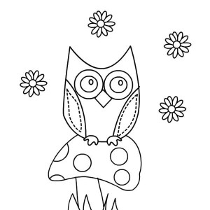 owl paper cutting coloring page
