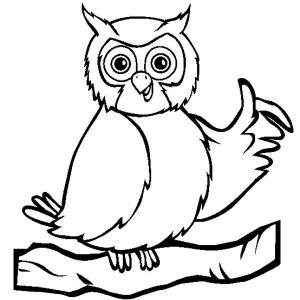 owl thumb up coloring page