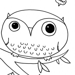 owl toon coloring page