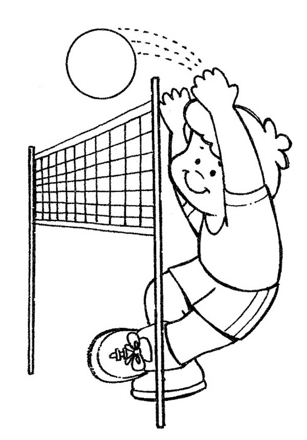 practice volleyball coloring page Download Print Online