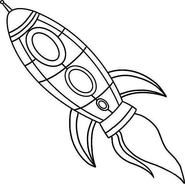 rocket ship fire blast coloring page Download Print Online