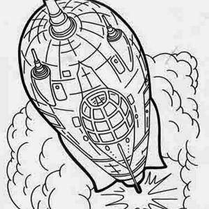 rocket ship flash gordon coloring page
