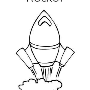 rocket ship very fast speed coloring page
