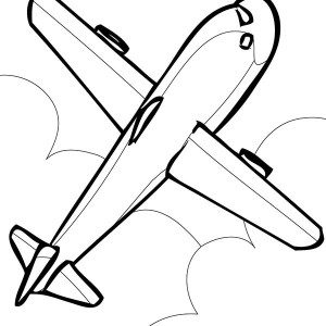 simple airline coloring page for kids