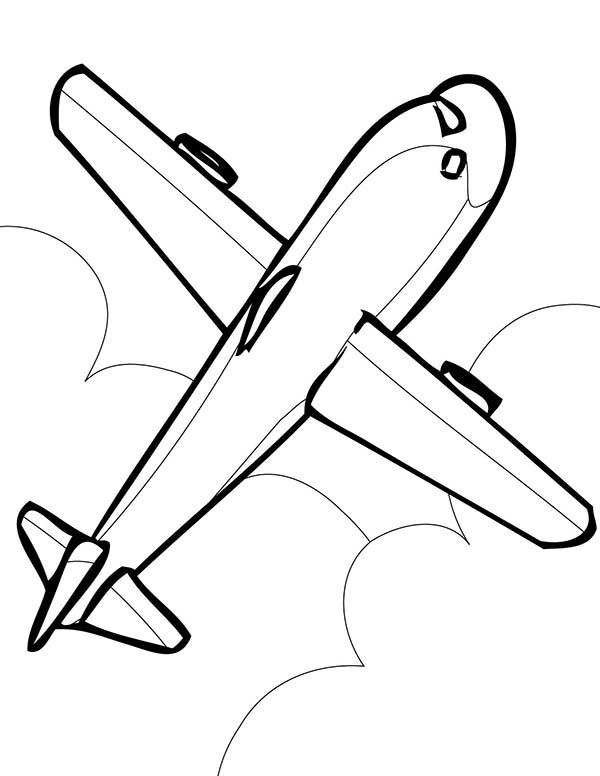 how to draw an airplane kindergarten