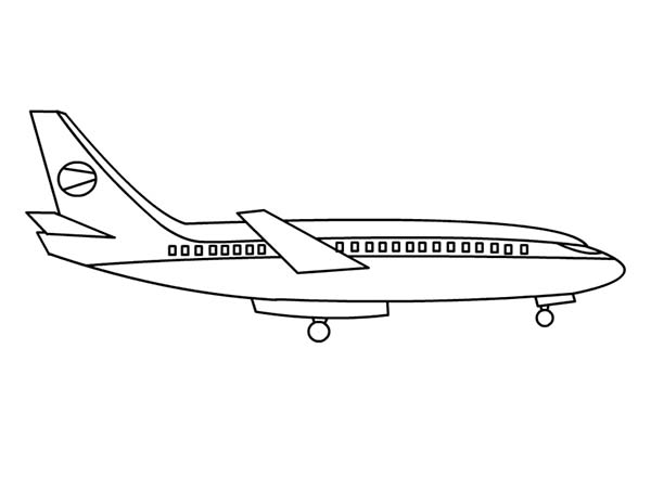 Airplane Simple Airline Plane Coloring Page PageFull Size
