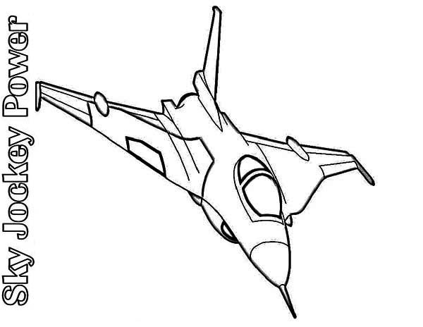 airplane sky jockey power air fighter coloring page