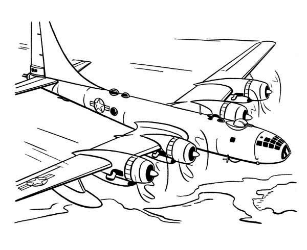 skyfortress airplane coloring page - Download & Print Online ...