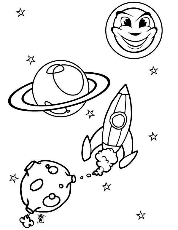 rockets ship sun moon rocket ship coloring page - Sun And Moon Coloring Pages