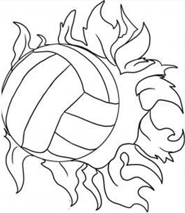 super power spike volleyball coloring page Download Print
