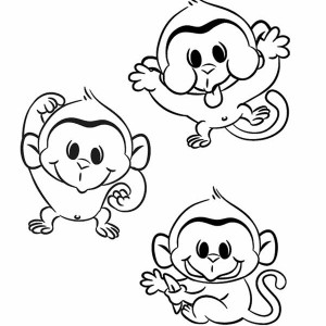 how to draw a monkey hanging off a tree