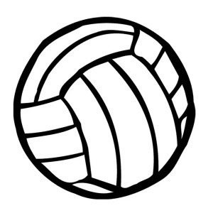 volleyball coloring page for kids