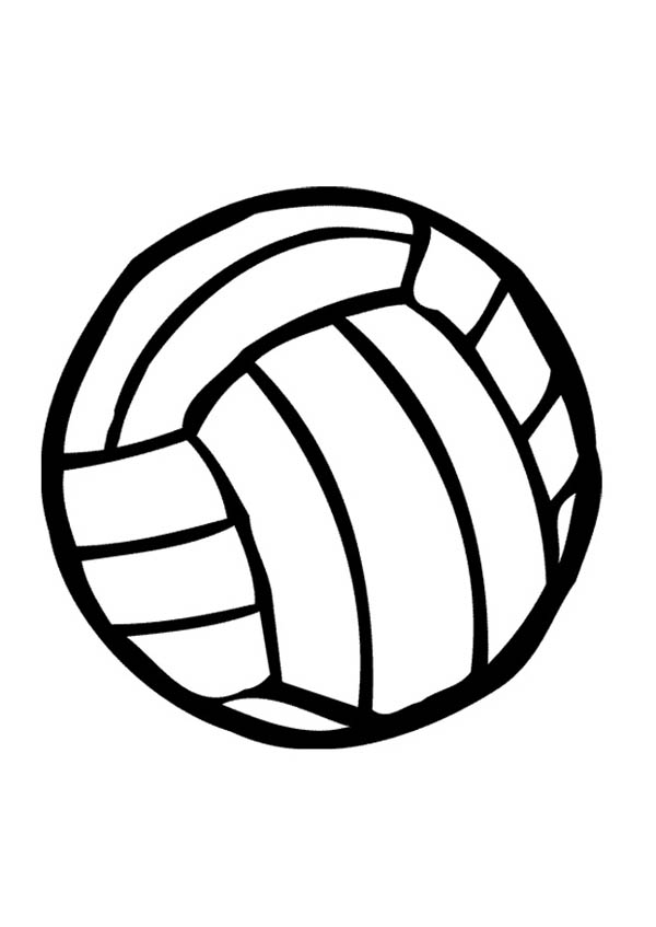 volleyball coloring page for kids Download Print Online