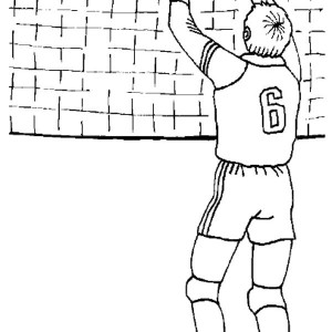 volleyball set coloring page