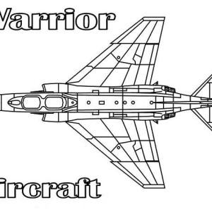 warrior aircraft coloring page