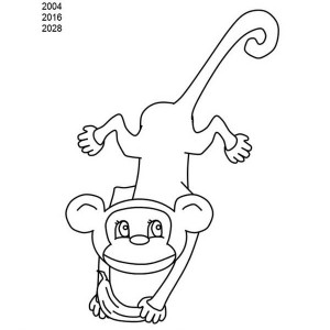 writing M as monkey coloring for kids