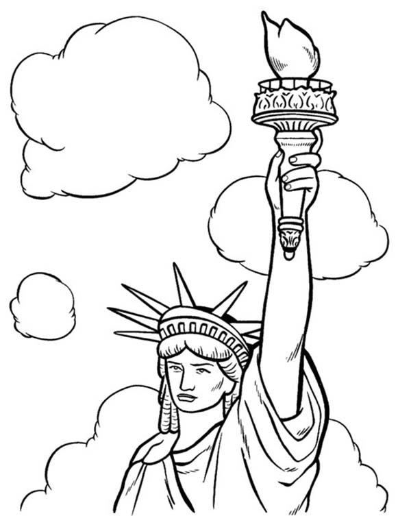 4 july statue of liberty coloring page